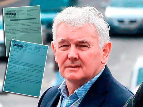 John Gilligan and inset the letters sent by CAB