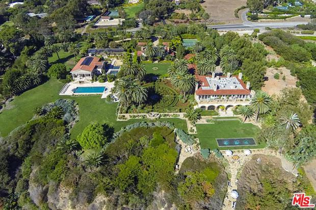 The Mailbu home is currently listed for sale on Zoopla for $54.5m (48.4m)