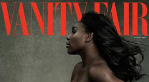 Serena Williams on the August cover of Vanity Fair. Image: Annie Liebovitz.