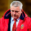 Warren Gatland cuts a disconsolate figure after the Lions coughed up 14 points in the final quarter to draw with the Hurricanes. Photo by Stephen McCarthy/Sportsfile