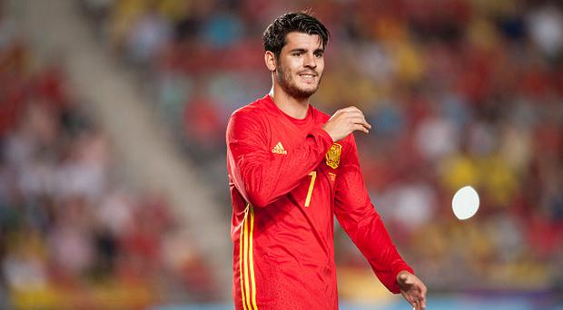 Alvaro Morata (Real Madrid) during a friendly match between national team of Spain vs. Colombia in Nueva Condomina Stadium, Murcia, Spain.Wednesday, June 7, 2017. (Photo by Jose Breton/NurPhoto via Getty Images)