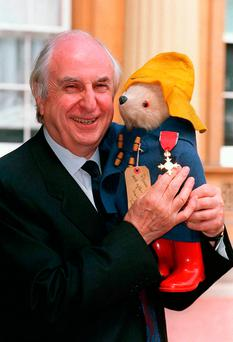 Michael Bond at Buckingham Palace in London where he received an OBE. Photo: PA/PA Wire