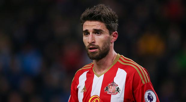 Fabio Borini of Sunderland during The Emirates FA Cup Third Round Replay between Burnley and Sunderland at Turf Moor on January 17, 2017 in Burnley, England. (Photo by Robbie Jay Barratt - AMA/Getty Images)