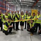 Staff at the opening of the new DHL facility