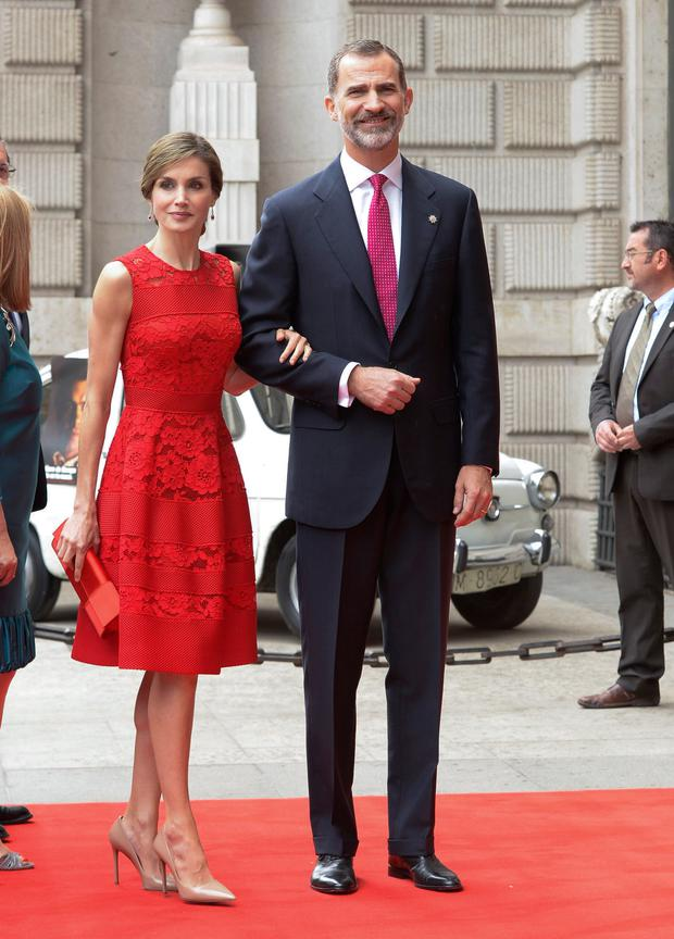 King Felipe VI of Spain (R) and Queen Letizia of Spain attend First Democracy Elections 40th anniversary at the Congress building on June 28, 2017 in Madrid, Spain. (Photo by Fotonoticias/WireImage)