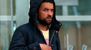 Munir Ghariani (26) formerly of Granitefield, Dun Laoghaire, Dublin leaves the Dublin Circuit Criminal Court today. Pic Collins Courts.