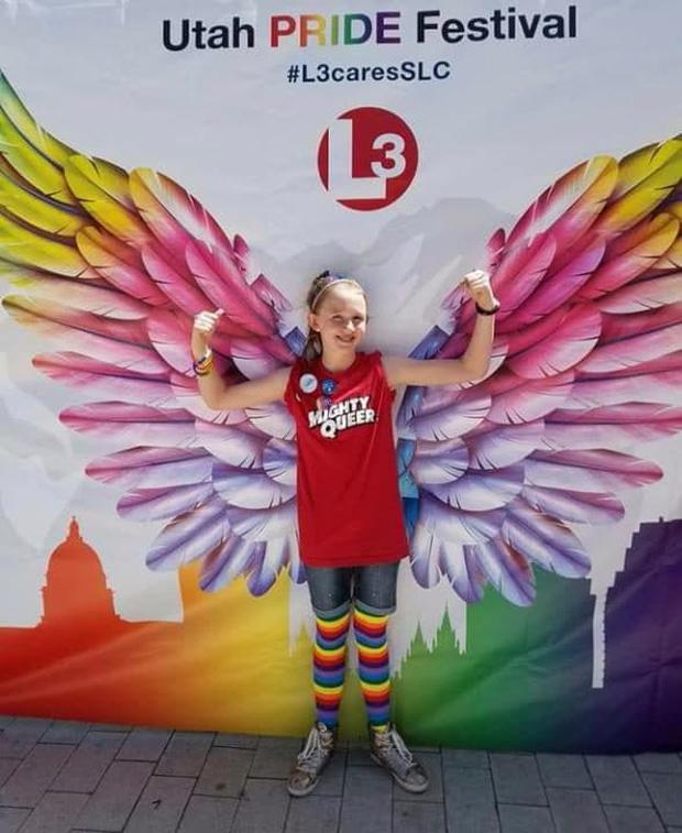 Savannah (13) revealed her sexual orientation during a church service (Photo: Heather Kester)