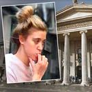 Samantha Azzopardi (inset) cost the Irish state more than €250,000 when she turned up outside the GPO in Dublin in October 2013