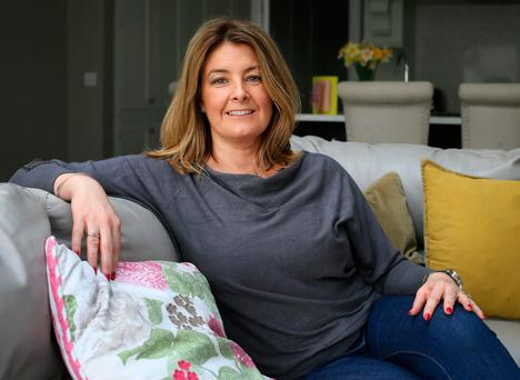 Sonya Reilly pictured her home in Malahide. Photo: Frank McGrath