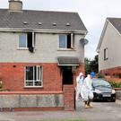 Gardaí at the scene of a fire in Athy. Photo: Colin Keegan, Collins Dublin