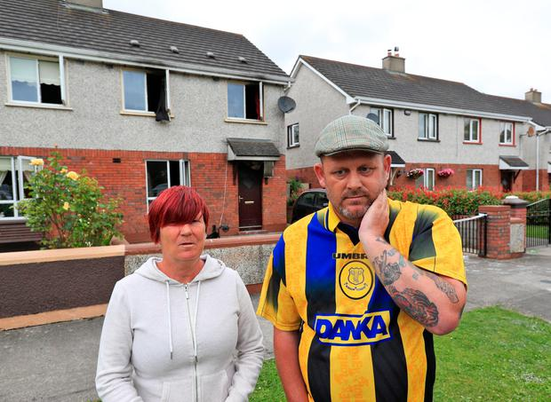 Neighbours Jacqueline Moriarty and Carl Delaney. Photo: Colin Keegan, Collins Dublin