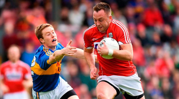Paul Kerrigan on the charge against Tipperary. Photo by Matt Browne/Sportsfile