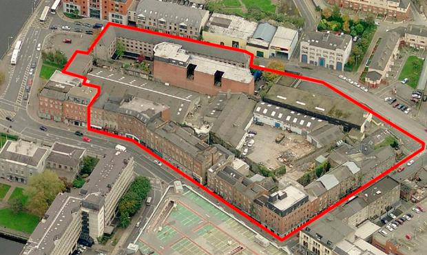 An aerial view of the site the new Opera Centre will be developed on