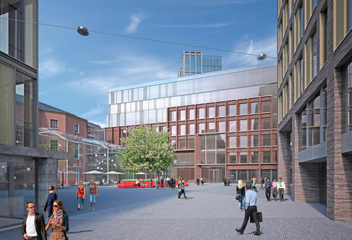 Artists' impressions of how the new Opera centre will look