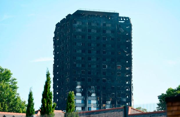 Grenfell Tower in west London. Photo: PA
