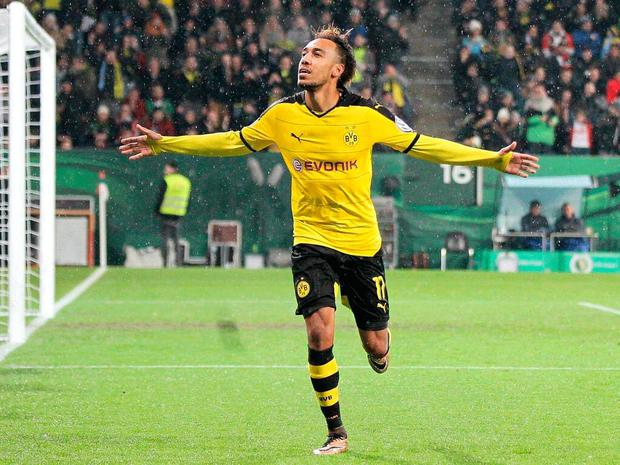 Pierre-Emerick Aubameyang has been linked with a move to England's Premier League