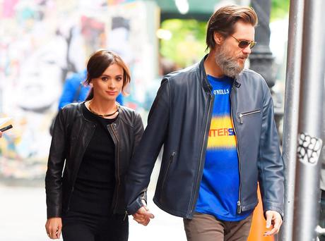 Hollywood actor Jim Carrey and Cathriona White