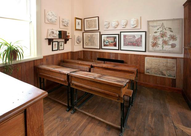 The classrom of Scoil Éanna in the Pearse Museum in Rathfarnham