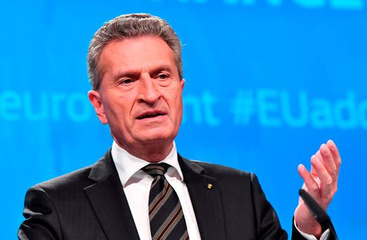 EU Budget Commissioner Günther Oettinger. Photo: AFP/Getty Images