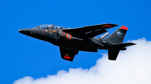 A French air force Alpha Jet like the one reportedly used.