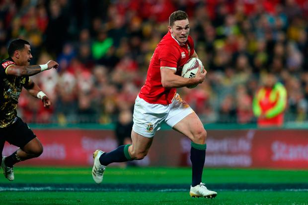 George North will also leave New Zealand after tearing his hamstring. Photo: David Rogers/Getty Images
