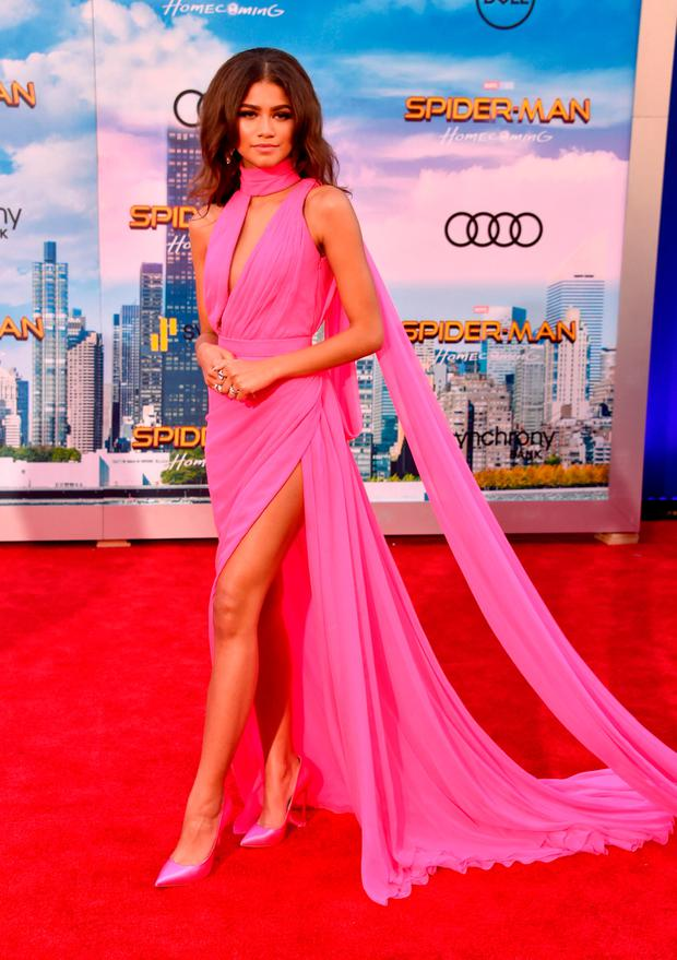 Zendaya attends the premiere of Columbia Pictures'