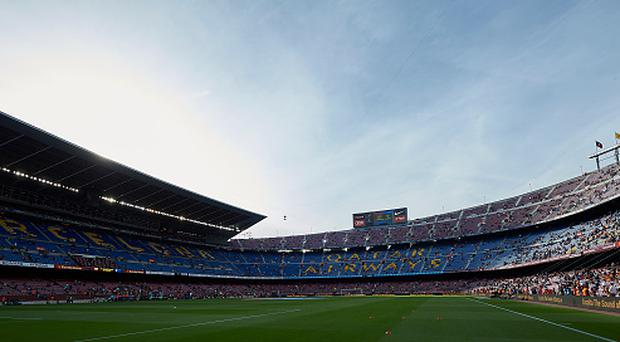 General view of the Camp Nou Stadium prior the La Liga match between FC Barcelona and SD Eibar at Camp Nou Stadium on May 21, 2017 in Barcelona, Spain. (Photo by fotopress/Getty Images)