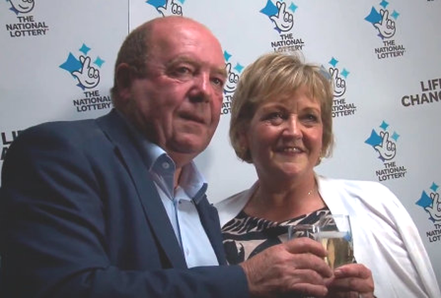 Eithne and Colin Bell toast their win