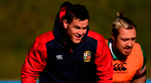 Jonathan Sexton during a Lions training session. Photo: Sportsfile