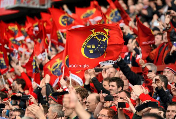 Munster fans. Stock picture