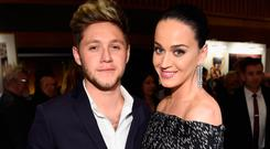 Recording artists Niall Horan (L) and Katy Perry attend Hollywood Gala celebrating Capitol Records 75th Anniversary on November 15, 2016 in Los Angeles, California. (Photo by Kevin Mazur/WireImage)