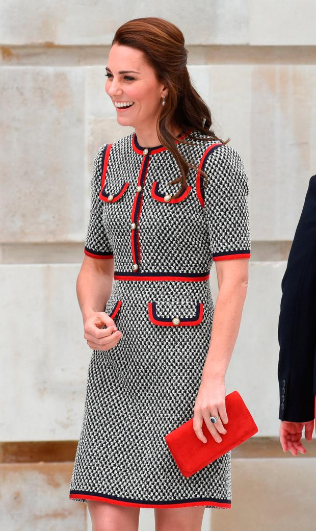 Catherine, Duchess of Cambridge during an official visit to the new V&A exhibition road quarter at Victoria & Albert Museum on June 29, 2017 in London, England. The V&A Exhibition Road Quarter was designed by British Architect Amanda Levete. (Photo by Nicky J Sims/Getty Images)
