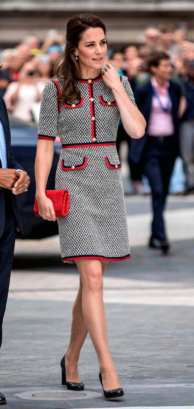 Britain's Catherine, Duchess of Cambridge arrives to open the new multi-million pound extension at the V&A Museum in London on June 29, 2017. / AFP PHOTO / POOL / RICHARD POHLERICHARD POHLE/AFP/Getty Images