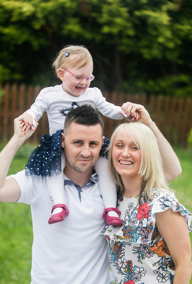 Fianna Ward with her parents Aurla and Feargal