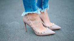 Street Style: the Valentino rockstud heels in Paris