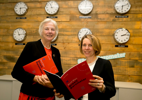 Catherine Day, former Secretary General of European Commission with Bord Bia CEO Tara McCarthy.