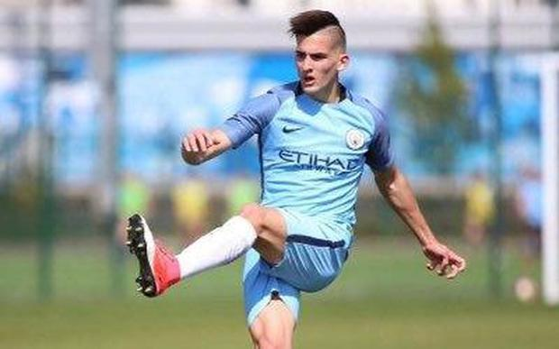 It is claimed that City broke the rules in signing Benjamin Garré when he was 16 CREDIT: TWITTER: @BENJAGARRE