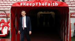 Ellis Short, Sunderland chairman walks out of the tunnel to take a look at the pitch prior to the Premier League match between Sunderland and Burnley at Stadium of Light on March 18, 2017 in Sunderland, England. (Photo by Nigel Roddis/Getty Images)