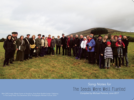 Cover of 'The Seeds Were Well Planted' songbook commissioned by Carlow County Council, which features local people singing historical ballads