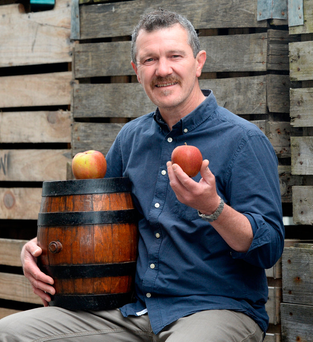 Cockagee cider producer Mark Jenkinson in Stackallen, Slane Photo: Justin Farrelly