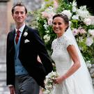 Pippa Middleton and James Matthews on their wedding day Photo: Kirsty Wigglesworth/PA Wire