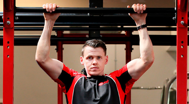 TJ Reid is celebrating four months since the opening of his new gym in Cillin Hill in Kilkeny while he and his team-mates return to action tonight in the qualifiers against Limerick at Nowlan Park. Picture: Frank Mc Grath