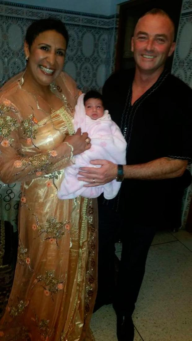 Laila and Barry with Joudiya when she was a newborn