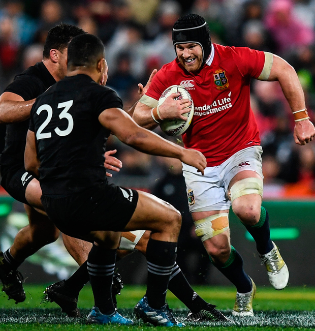 Sean O'Brien of the British & Irish Lions during the Second Test match. Photo: Stephen McCarthy/Sportsfile