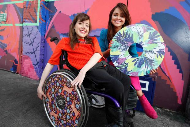 Ailbhe and Izzy Keane of Izzy Wheels. Photo: Conor McCabe (IWA Magazine)