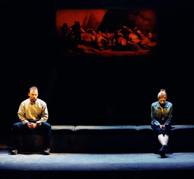 Success: Don Wycherley and Catherine Walsh as Billy and Breda in 'Eden' at The Abbey in 2001