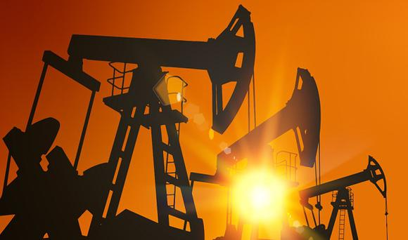 'Saudi Arabia cut its crude output under a global deal among producing countries to prop up prices' Stock photo