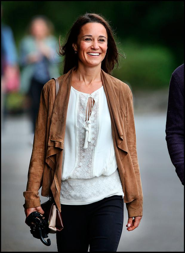 Pippa Middleton taking a stroll through the village of Glengarriff where the wedding of Camilla Campion-Awwad will take place. PIc Steve Humphreys 1st July 2017
