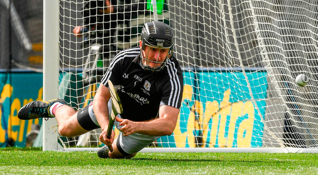 2 July 2017; The Galway goalkeeper Colm Callanan saves a 40th minute penalty for Wexford during the Leinster GAA Hurling Senior Championship Final match between Galway and Wexford at Croke Park in Dublin. Photo by Ray McManus/Sportsfile