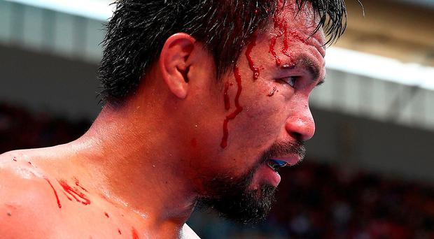Manny Pacquiao. Photo by Chris Hyde/Getty Images